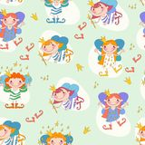 Vector illustration of girls fairies. Fairy with a Stock Photo