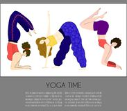 Vector Yoga Girls vector illustration