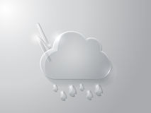 Vector illustration of glass cloud Royalty Free Stock Photos