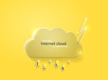 Vector illustration of glass cloud Stock Photography