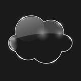 Vector Illustration of Glass  Cloud Icon Stock Photos
