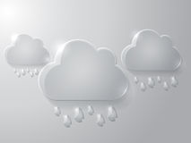 Vector illustration of glass clouds. This is file of EPS10 format Stock Images