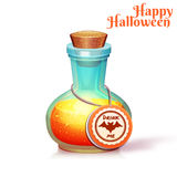 Vector illustration of glass flask with poison Royalty Free Stock Image