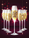 Vector illustration with glasses of champagne Royalty Free Stock Photography