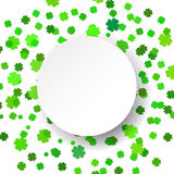 Vector illustration  glittering confetti green celebration background. Royalty Free Stock Photos