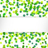 Vector illustration  glittering confetti green celebration background. Royalty Free Stock Image