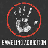 Vector illustration. Global problems. gambling addiction. Conceptual vector illustration. Global problems of humanity. gambling addiction vector illustration
