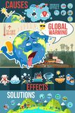 Global Warming Infographics Illustration Royalty Free Stock Photography