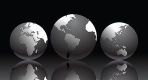 Vector illustration with globe Royalty Free Stock Images
