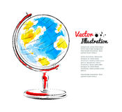 Vector illustration of globe Royalty Free Stock Images