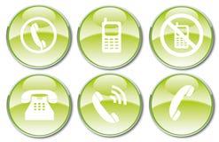 Vector illustration of glossy icon set. Stock Photo