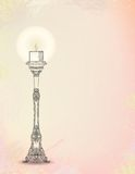 Vector illustration of glowing candlestick Stock Image