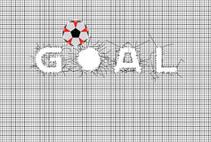 Vector Illustration of Goal Stock Photography