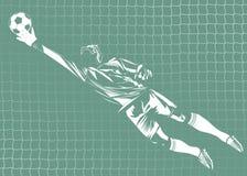 Vector illustration of goalkeeper royalty free illustration