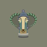 Vector illustration of goat, symbol of 2015. Royalty Free Stock Images