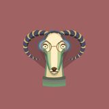 Vector illustration of goat, symbol of 2015. Element for New Year's design. Image of 2015 year of the goat Royalty Free Stock Photos