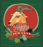 Vector illustration of goat, symbol of 2015. Element for New Year's design. Image of 2015 year of the goat Stock Photos
