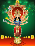 Vector illustration goddess durga Royalty Free Stock Image