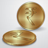 Vector illustration of gold coins with Indian Stock Images