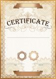 Vector illustration of gold detailed certificate Stock Photo