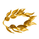 Vector illustration of a gold laurel wreath award Royalty Free Stock Image