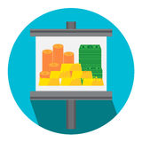 Vector illustration gold money for finance icon Stock Photography