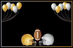 Football Gold Silver Design Stock Image