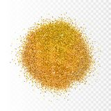 Vector illustration gold sparkles on transparent background. Glitter background. Golden backdrop for card, vip, exclusive, Royalty Free Stock Photography