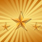 Vector illustration of 3 gold stars.  Royalty Free Stock Images