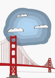 Vector Illustration of the Golden Gate Bridge Stock Photos