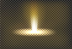 Vector illustration of a golden light ray, a light beam royalty free illustration