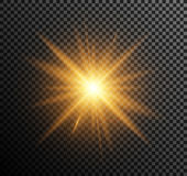 Vector illustration of golden light Royalty Free Stock Photos