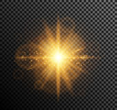 Vector illustration of golden light Royalty Free Stock Photography