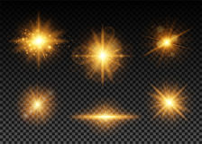 Vector illustration of golden lights set Royalty Free Stock Photography