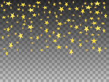 Vector illustration golden objects falling stars Royalty Free Stock Images