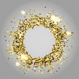Vector illustration for golden shimmer background. Royalty Free Stock Image