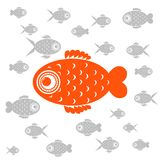 Vector illustration goldfish Stock Photography