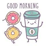 Vector illustration - Good morning. Vector hand draw illustration - good morning stock illustration