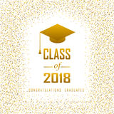Vector illustration of a graduating class in 2018 graphics gold. Elements for t-shirts, and the idea for the sign or badge Stock Image