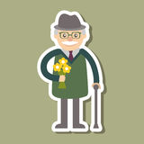 Vector illustration. Grandfather icon Royalty Free Stock Photo