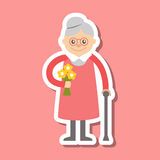 Vector illustration. Grandmother icon Royalty Free Stock Image