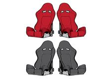 Car Seats Accessories racing Stock Images