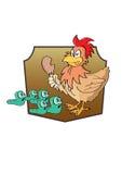 Vector illustration  graphic cartoon Chicken Royalty Free Stock Image
