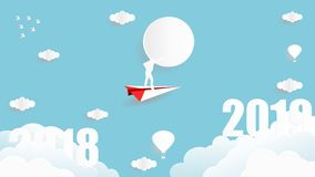 Business target on year 2019 concept royalty free illustration