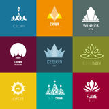 Vector Illustration, graphic elements editable for design with crown. Stock Photos