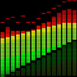 Vector illustration of a digital equalizer Royalty Free Stock Images