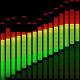 Vector illustration of a digital equalizer Royalty Free Stock Images
