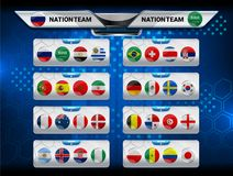 Scoreboard Broadcast and Lower Thirds Template for world soccer tournament championship Stock Photo