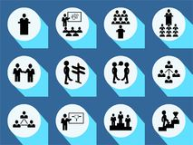 Vector set business or finance  icons with long shadow. Vector Illustration  for graphic and web design Royalty Free Stock Photos