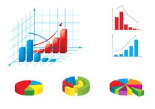 Vector illustration of graphs Stock Photo